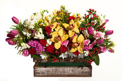 Flower bouquet composition for the holiday, spring bouquet of fl Royalty Free Stock Photo