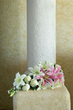 Flower Bouquet on Elegant Pillar Stock Photography