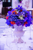 Flower bouquet  in event wedding party. Setting Flower bouquet  in event wedding party Stock Images