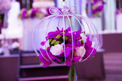Flower bouquet  in event wedding party. Royalty Free Stock Photos