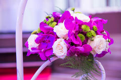 Flower bouquet  in event wedding party. Setting Flower bouquet  in event wedding party Stock Image