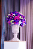 Flower bouquet  in event wedding party. Setting Flower bouquet  in event wedding party Royalty Free Stock Photos