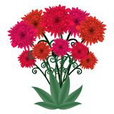 Flower bouquet, fantastic floral bouquet, vector Stock Images