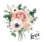 Flower Bouquet floral bunch, vector boho design object, element. vector illustration