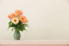 Flower bouquet on headboard Royalty Free Stock Photo