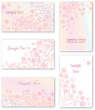 Flower bouquet header set. Floral decor collection Stock Photography