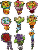 Flower bouquet icons Royalty Free Stock Photography