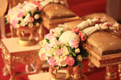 Flower bouquet  and  jasmine garland for Thai wedding Stock Image