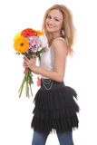 A flower bouquet for me! Royalty Free Stock Image