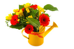 Flower bouquet in orange and yellow Stock Photo