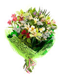 Flower bouquet with orchds Stock Photography