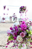 Flower bouquet with orchid Royalty Free Stock Photo