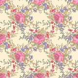 Flower bouquet pattern. Floral seamless background. Floral seam Stock Photo