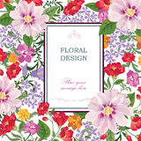 Flower bouquet pattern. Floral wallpaper. Flourish greeting card Stock Photo