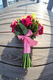 Flower bouquet on pier Stock Photos