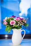Flower bouquet with pink gerberas Stock Image