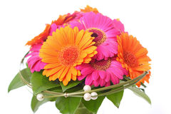 Flower bouquet in pink and orange royalty free stock photography