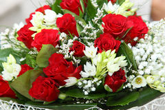 Flower bouquet of red roses Stock Photo