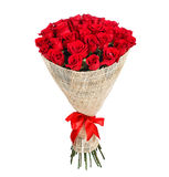 Flower bouquet of red roses Royalty Free Stock Photography