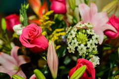 Flower bouquet - red roses Stock Photography