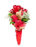 Flower bouquet of red roses Royalty Free Stock Photos