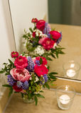 Flower bouquet reflected Stock Photography
