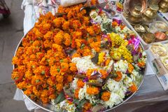 Flower bouquet for religious tradition in the evening stock photos