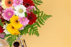 Flower bouquet with room for text royalty free stock images