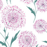 Flower bouquet seamless pattern. Floral frame. Summer flourish o. Rnamental texture. Blooming flowers isolated on white background stock illustration