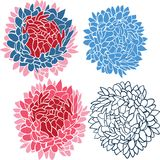 Flower bouquet set Royalty Free Stock Photography