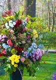 Flower bouquet on spring park Royalty Free Stock Images