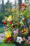 Flower bouquet on spring park Stock Image