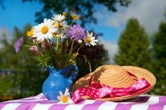 Flower bouquet in the summer garden Stock Image
