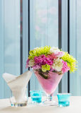 Flower bouquet on table Royalty Free Stock Photos