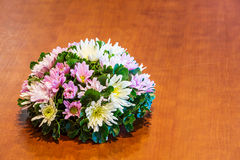 Flower bouquet on table Stock Image