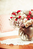 Flower bouquet on the table Stock Photos
