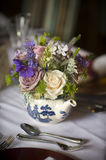 Flower bouquet in a teapot Royalty Free Stock Images