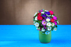 Flower bouquet in vase Stock Photo