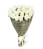 Flower bouquet of white roses Stock Photo