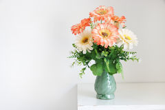 Flower bouquet on white table Royalty Free Stock Image