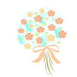 Flower Bouquet With Bow Stock Photo