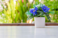 Flower bouquet  on wooden table Royalty Free Stock Photography