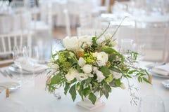 Flower bouquete decoration careing interior. Serviette table Stock Photos