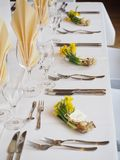 Flower bouquets on formal table
