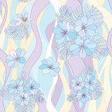 Flower bouquets seamless background. Royalty Free Stock Image