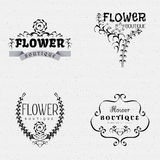 Flower Boutique insignia  and labels for any use Stock Photo