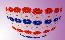 Flower bowl. Still life with perspective color Stock Photos