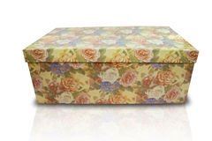 Flower Box. Flower cardboard box. Gift box concept Stock Photo