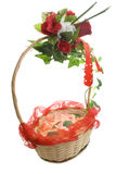 Flower box over white Stock Photo