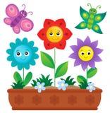 Flower box theme image 2 Royalty Free Stock Image